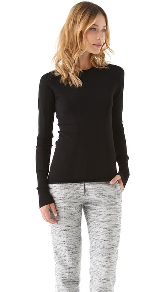 3.1 Phillip Lim Curved Rib Inset Pullover