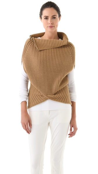 3.1 Phillip Lim Zip Neck Cocoon Vest