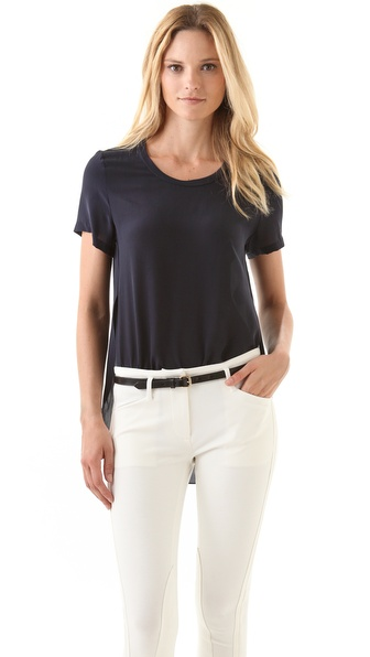 3.1 Phillip Lim Side Seam Tee - Navy at Shopbop