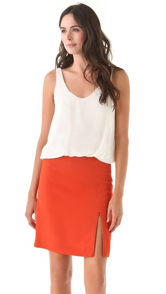 3.1 Phillip Lim Twisted Hem Tank - White at Shopbop