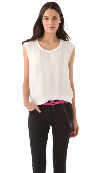 3.1 Phillip Lim Muscle Tee - White at Shopbop