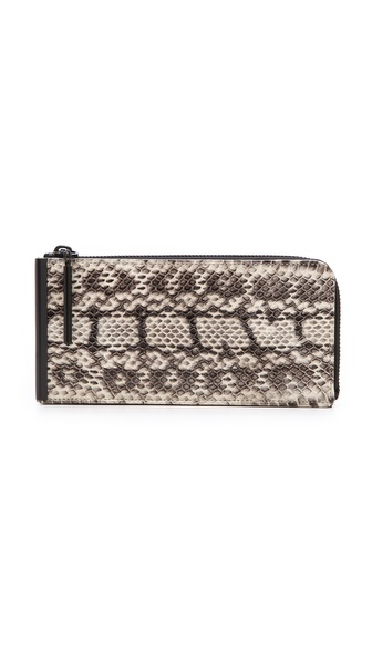 3.1 Phillip Lim Snakeskin Continental Zip Wallet