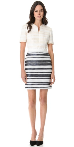 3.1 Phillip Lim Fitted Combo Stripe Dress at Shopbop.com