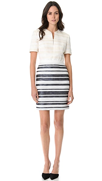 3.1 Phillip Lim Fitted Combo Stripe Dress