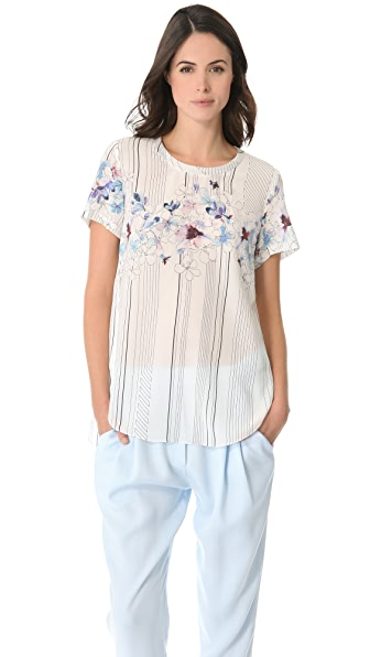3.1 Phillip Lim Watercolor Floral Top