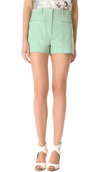 3.1 Phillip Lim A Line Leather Shorts
