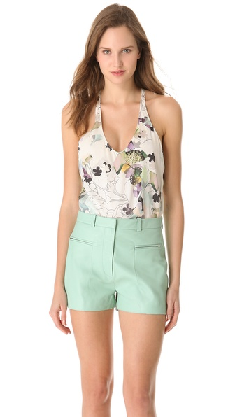 3.1 Phillip Lim Scrapbook Floral Racer Back Tank