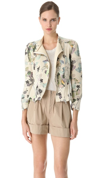 3.1 Phillip Lim Scrapbook Floral Corded Moto Jacket