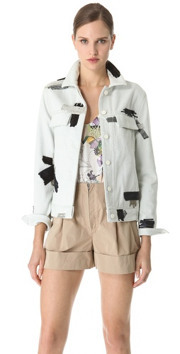 3.1 Phillip Lim Chain Patchwork Denim Jacket at Shopbop.com