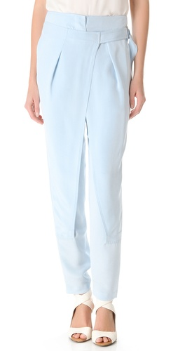 3.1 Phillip Lim Cross Front Wrap Trousers at Shopbop.com