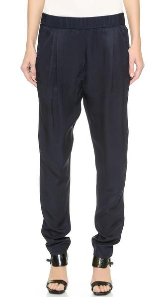 3.1 Phillip Lim Draped Pocket Trousers - Navy