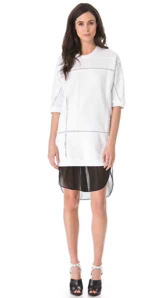 3.1 Phillip Lim Cut Up Sweater Dress