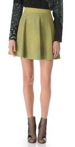3.1 Phillip Lim Suede Flared Skirt at Shopbop.com