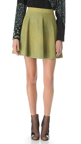 3.1 Phillip Lim Suede Flared Skirt