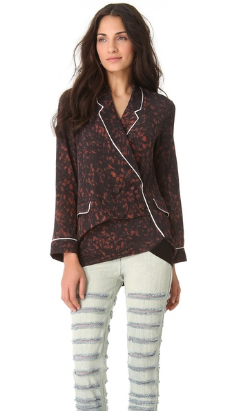 3.1 Phillip Lim Spotted Pony Twisted Pajama Top