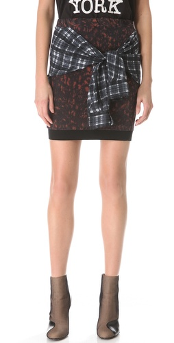 3.1 Phillip Lim Spotted Pony Tie Waist Skirt at Shopbop.com