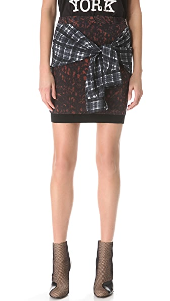 3.1 Phillip Lim Spotted Pony Tie Waist Skirt