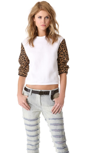 3.1 Phillip Lim Leopard Jacquard Sweatshirt
