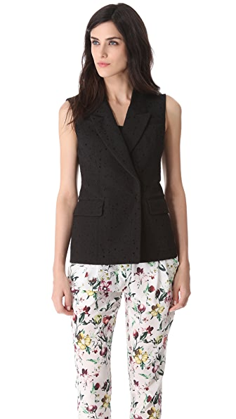 3.1 Phillip Lim Jacquard Dropped Collar Vest