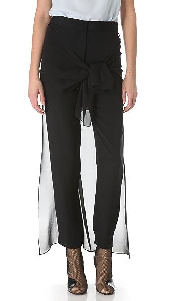 3.1 Phillip Lim Waist Tie Skirted Trousers