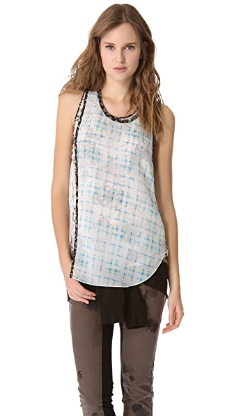 3.1 Phillip Lim Double Layer Plaid Tank