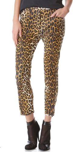 3.1 Phillip Lim Leather Leopard Jodhpurs at Shopbop / East Dane
