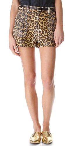 3.1 Phillip Lim Leopard Quilted Biker Shorts at Shopbop / East Dane
