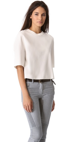 3.1 Phillip Lim Boxy Tee with Silk Binding at Shopbop / East Dane