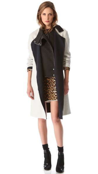 3.1 Phillip Lim Coat with Neoprene Bib