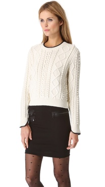 3.1 Phillip Lim Crop Pullover with Faux Piping