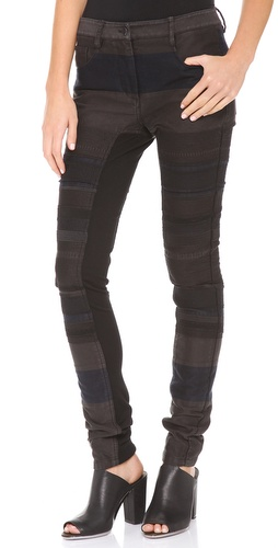3.1 Phillip Lim Ponte Inset Skinny Jeans at Shopbop / East Dane