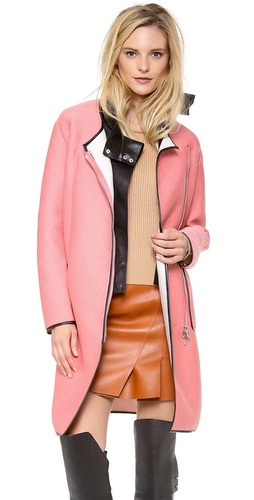 3.1 Phillip Lim Overcoat with Detachable Leather Bib