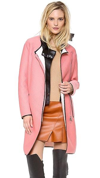 3.1 Phillip Lim Overcoat with Detachable Leather Bib