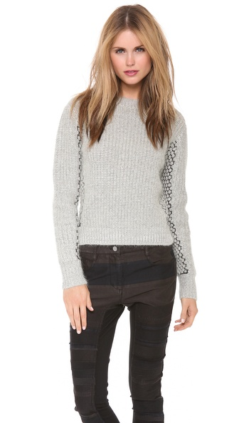 3.1 Phillip Lim Mix Stitch Cropped Pullover