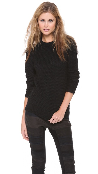 3.1 Phillip Lim Bubble Stitch Combo Pullover