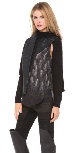 3.1 Phillip Lim Metallic Print Tie Sweater at Shopbop / East Dane
