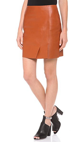 3.1 Phillip Lim Leather Layers Miniskirt