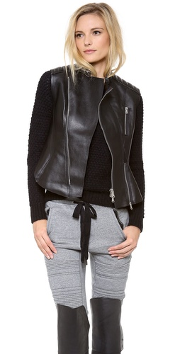 3.1 Phillip Lim Motorcycle Peplum Vest at Shopbop / East Dane