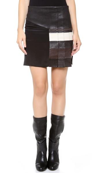 3.1 Phillip Lim Striped Pleat Skirt