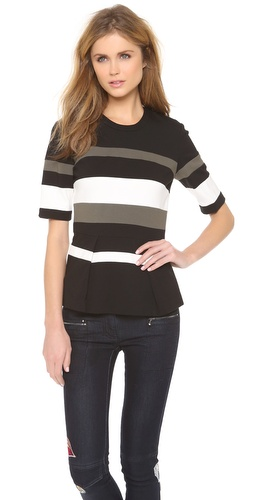 3.1 Phillip Lim Striped Peplum Top at Shopbop / East Dane