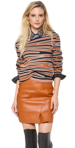 3.1 Phillip Lim Twisted Crop Top with Biker Sleeves at Shopbop / East Dane