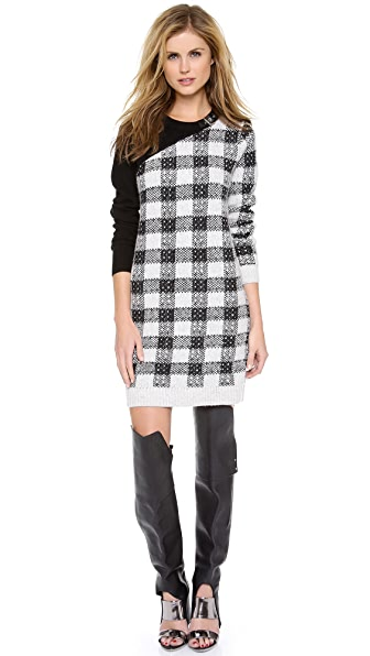 3.1 Phillip Lim Plaid Block Dress with Buckle