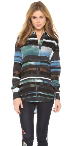 3.1 Phillip Lim Striated Shirt with Beading at Shopbop / East Dane