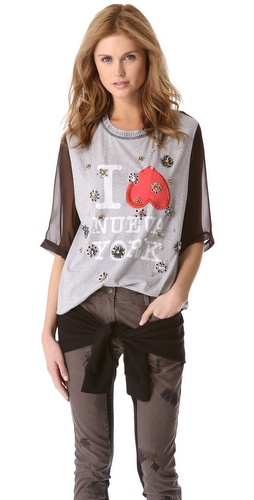 3.1 Phillip Lim Embellished Nueva York Tee at Shopbop.com
