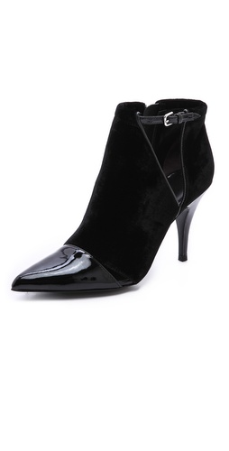 3.1 Phillip Lim Quill Cutout Velvet Booties at Shopbop / East Dane