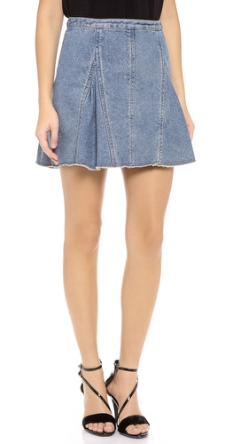 3.1 Phillip Lim Denim Peplum Flare Skirt at Shopbop / East Dane
