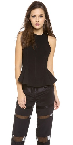 3.1 Phillip Lim Seamed Peplum Bodice Top at Shopbop / East Dane
