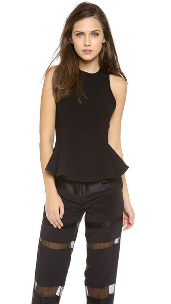 3.1 Phillip Lim Seamed Peplum Bodice Top
