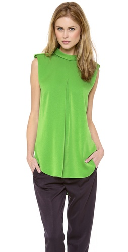 3.1 Phillip Lim Rolled Neck Epaulet Tank at Shopbop / East Dane