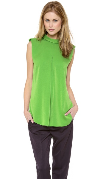3.1 Phillip Lim Rolled Neck Epaulet Tank